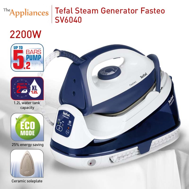 Tefal Pump Station Fasteo Steam Generator Iron (SV6040)