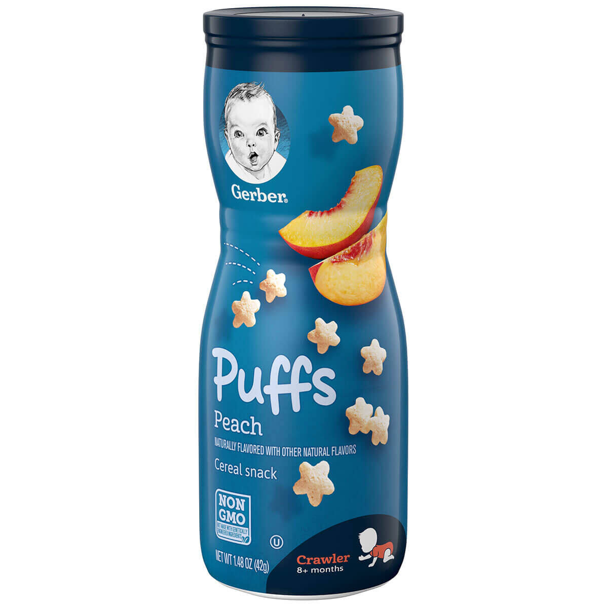 Gerber Puffs Cereal Snack Peach (42g / 1.48 OZ x 2) - TWIN PACK