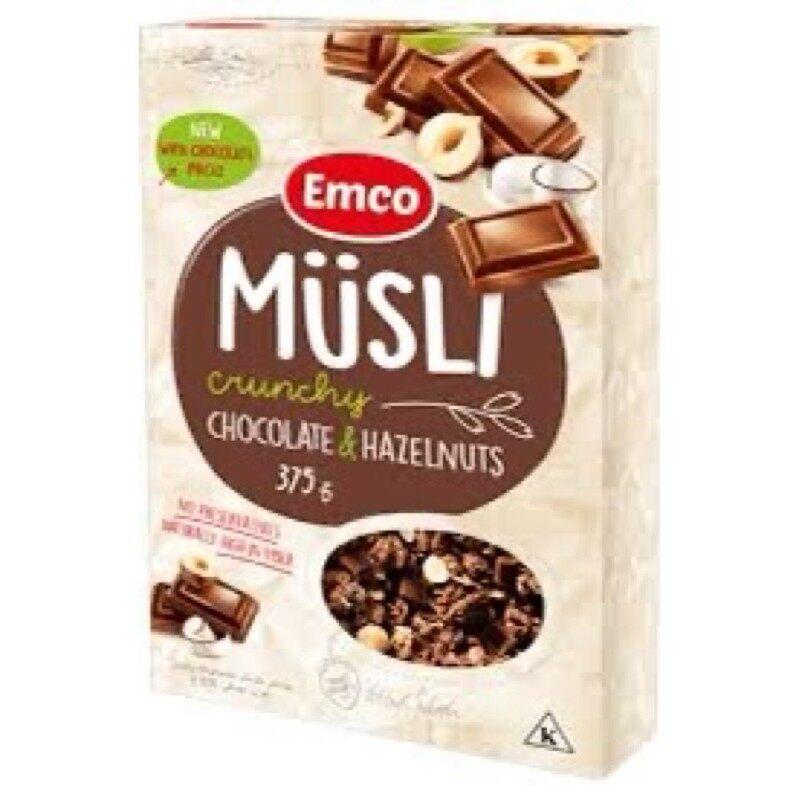 CEREAL Emco Musli Crunchy Chocolate & Hazelnuts (375g) EURO SNACKS