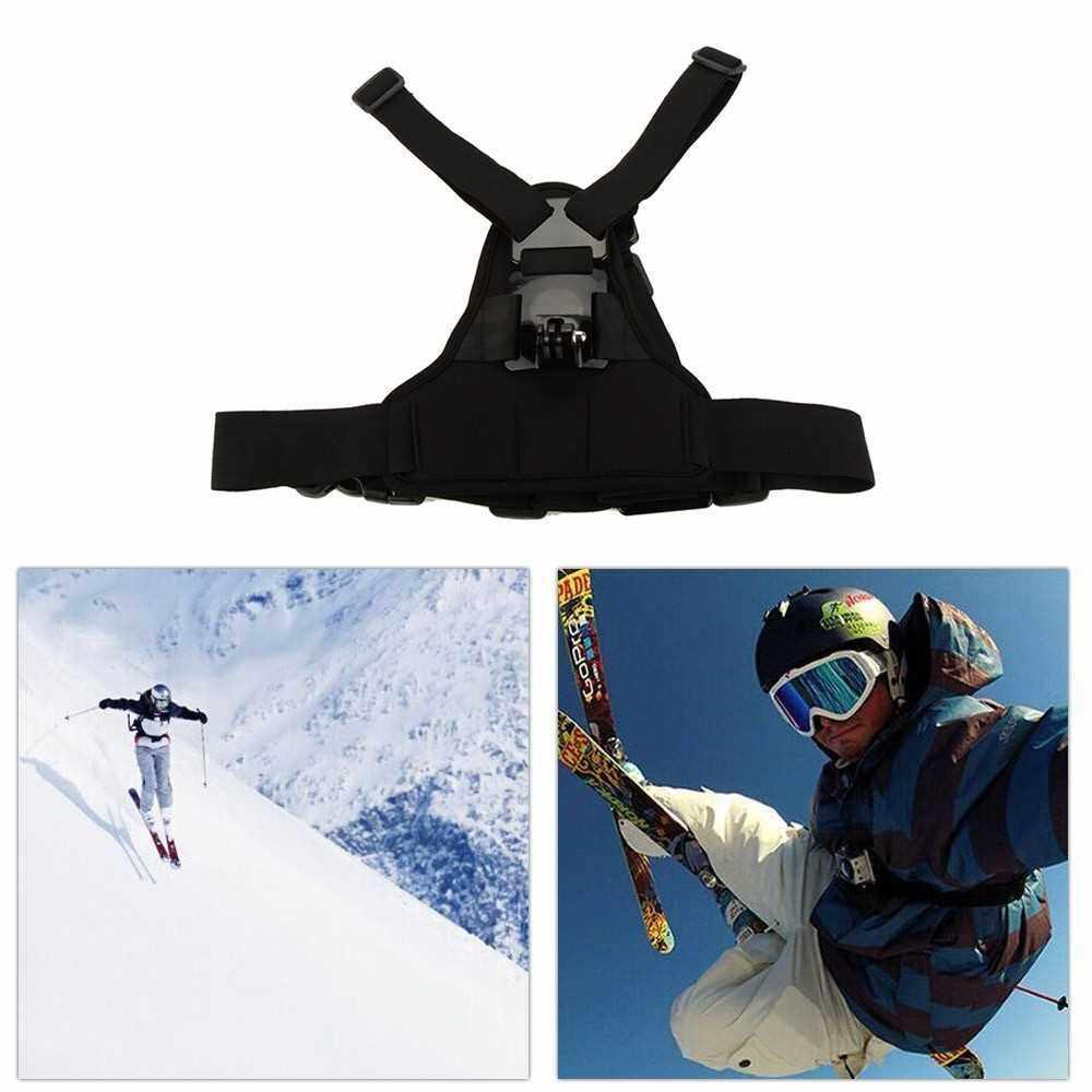 Andoer Adjustable Elastic Body Harness Chest Strap Mount Band Belt Accessory for Sport Camera GoPro Hero 4/3+/3/2/1 SJCAM (Standard)