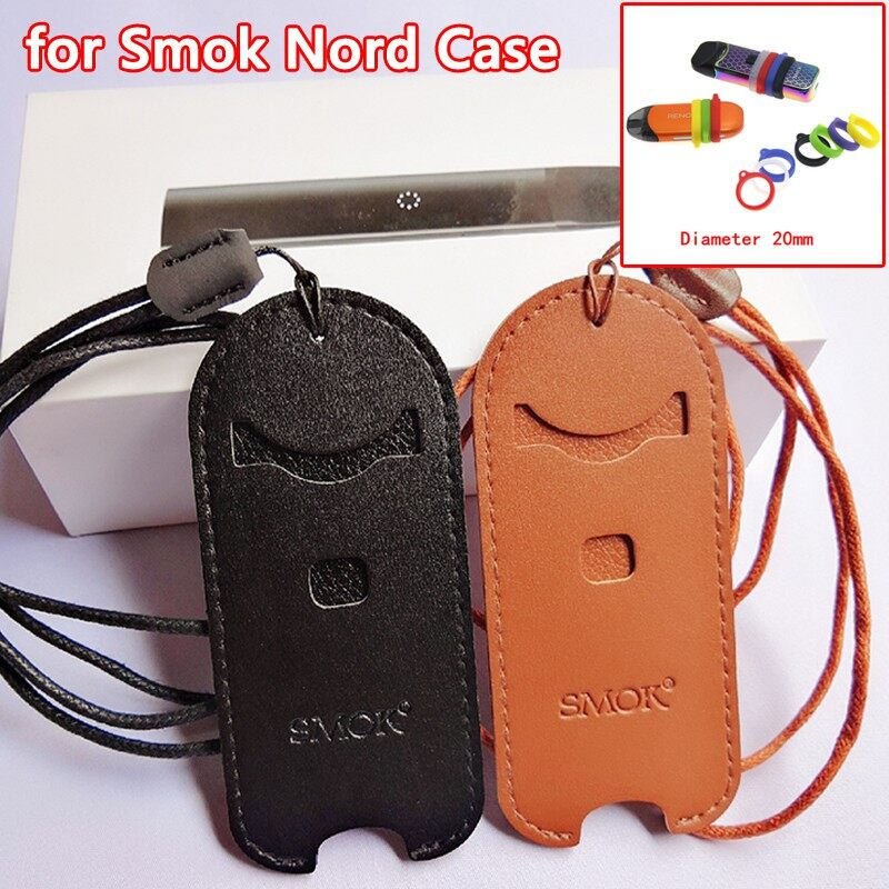SMOK NORD Kit Leather Case Fashion Dustproof PORTABLE SMOK Case with Free Gift - BLACK / BROWN