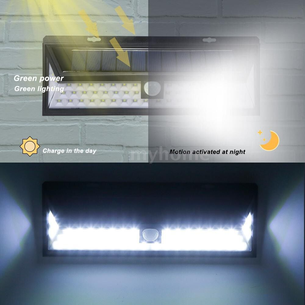 Outdoor Lighting - 90 LED Solar Wall Light Outdoor PIR Motion Sensor Solar-powered Lamp With Remote Control