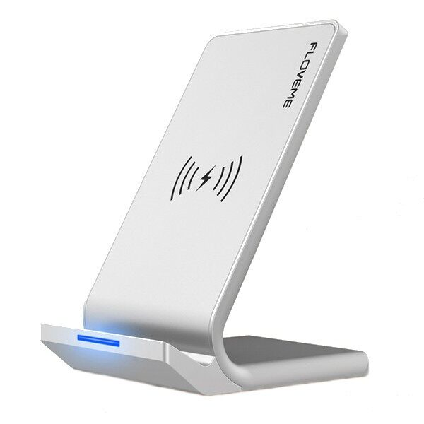 Chargers - FLOVEME Qi WIRELESS Charger Desktop Phone Holder For iPh X 8Plus - WHITE / BLACK