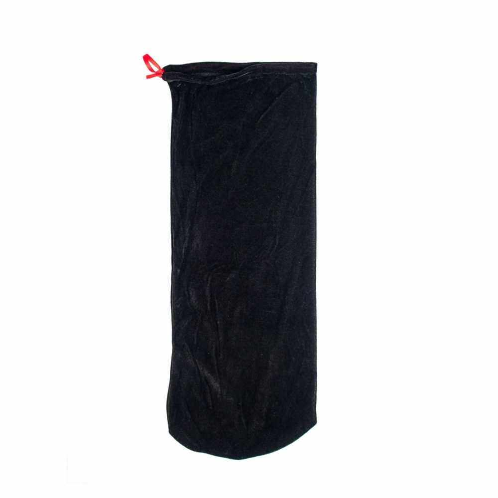 Satin Fabric Violin Bag Dust Cover Protective Bag with Drawstring for 4/4 & 3/4 Violin Black (Black)