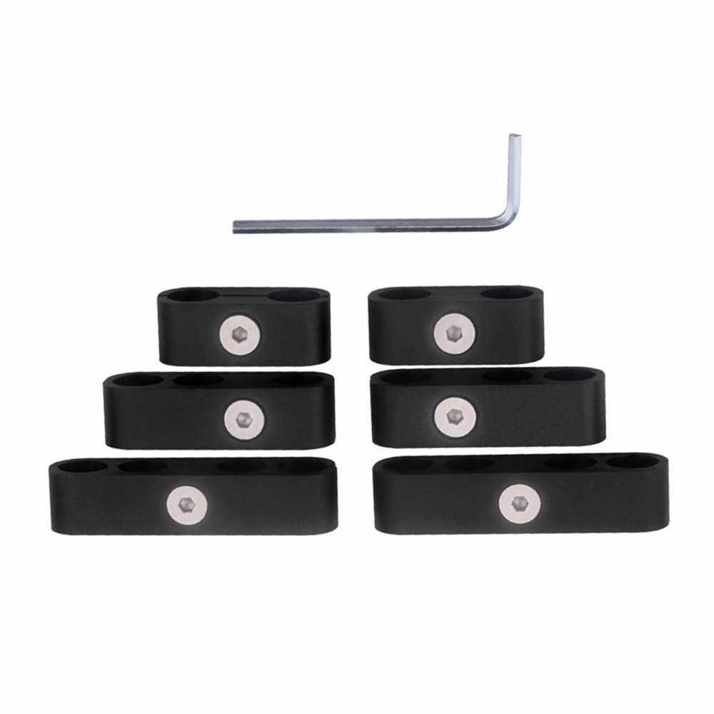 Best Selling SBC 350 Spark Plug Wire Separators Dividers Looms CNC Premium Quality Aluminum Alloy Suits 7mm 8mm 9.5mm (Black)