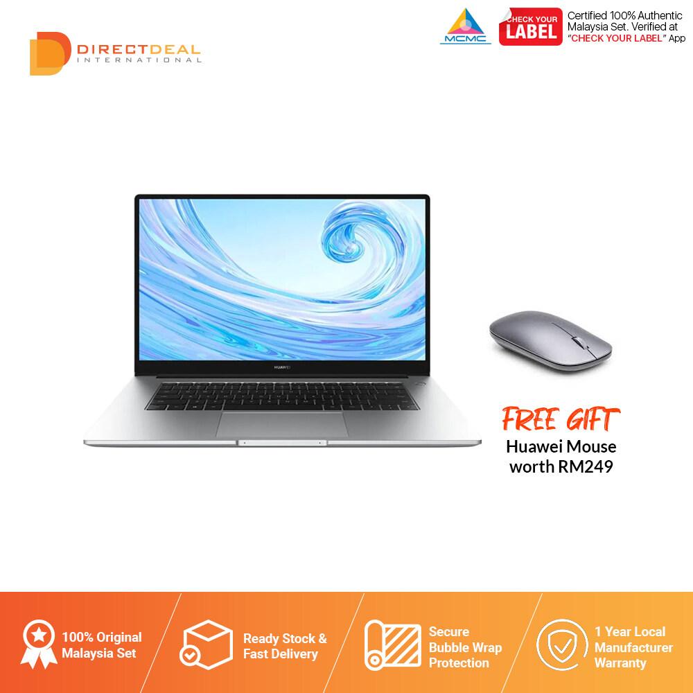 Huawei Matebook D 15 Ryzen 8+256GB SSD + 1TB HDD Laptop - Original 2 Year Warranty by Huawei MY (MY SET)