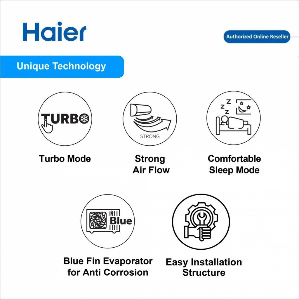 Haier (1.5) Turbo Cool Non Inverter HSU-12LFA18