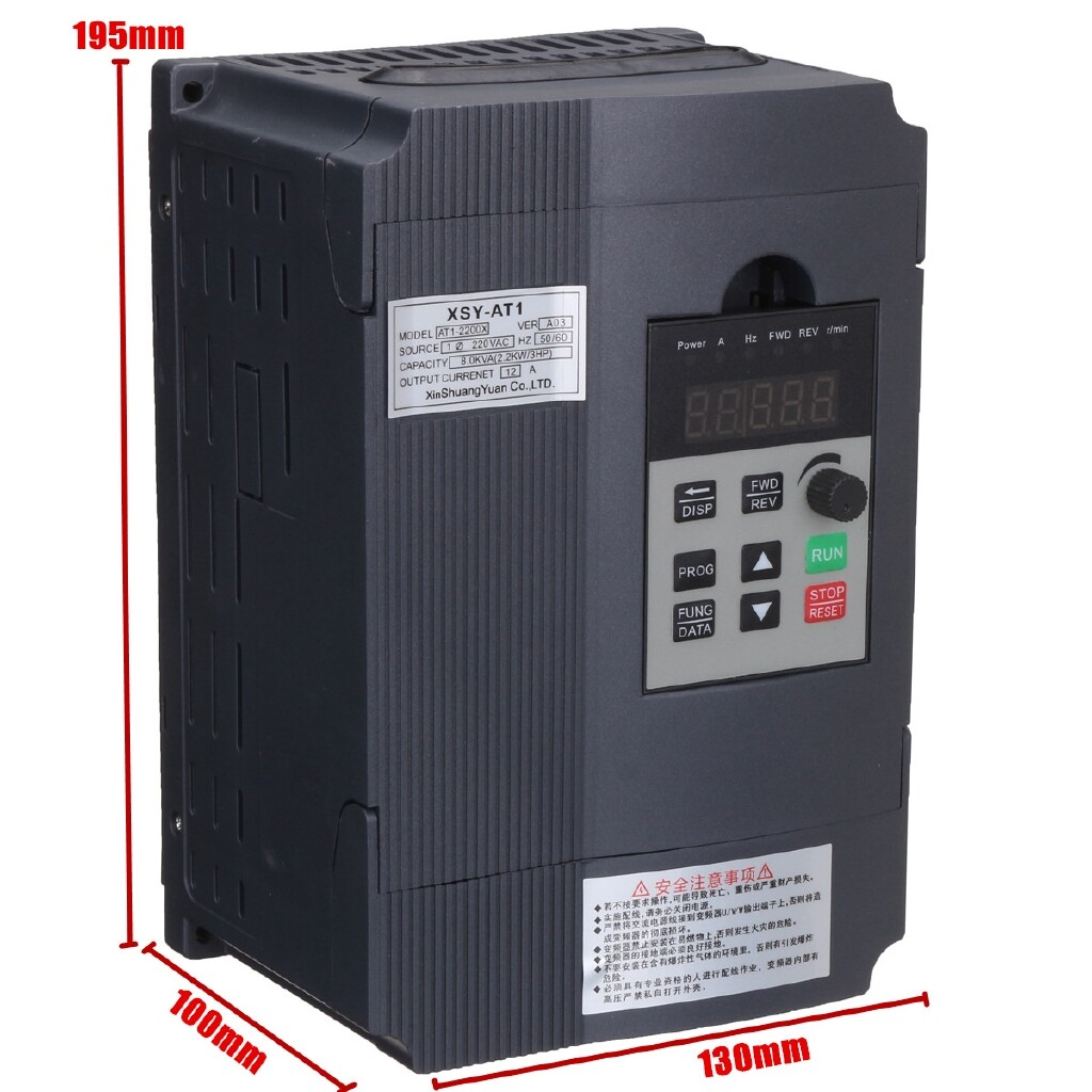 DIY Tools - 220V 3PH Single Phase Motor Speed Control Variable Frequency Drive Inverter - Home Improvement