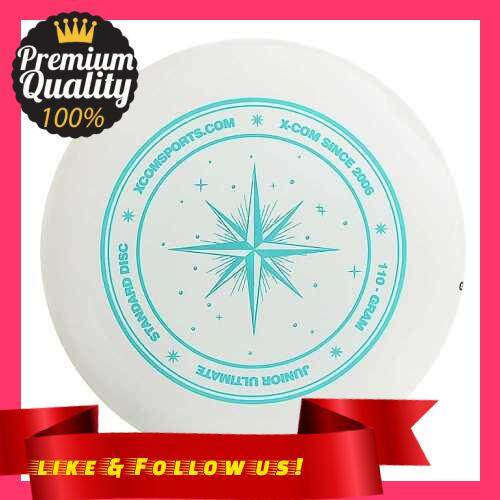 People\'s Choice 9.3 Inch 110g Plastic Flying Discs Outdoor Play Toy Sport Disc for Juniors (White+Blue)