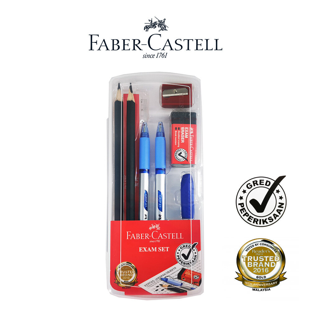 Faber-Castell Exam Set In Clear Box (1 Box)