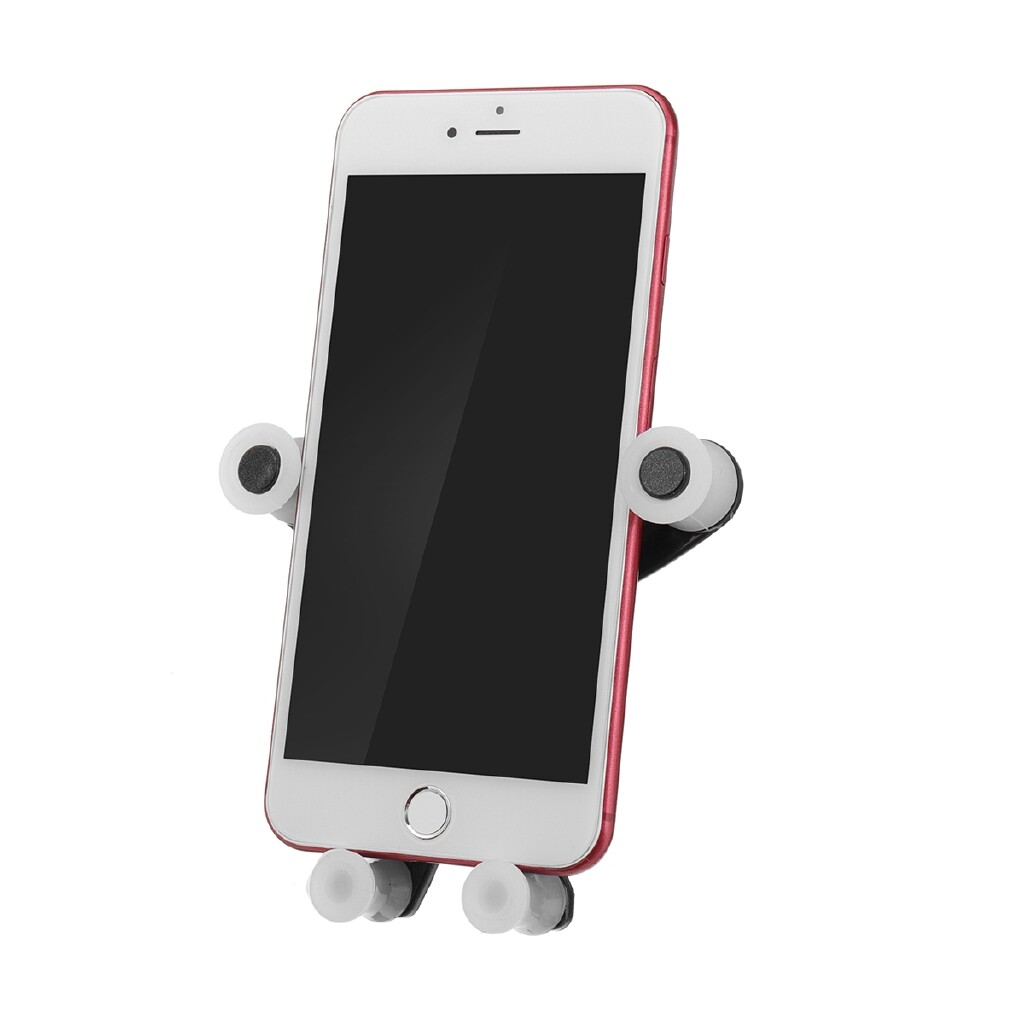 Phone Holder & Stand - Cartoon Buckle Graverity Automatic Air Vent Car Phone Holder ABS Stand Mounts - DAZE / ANGRY / TEASE