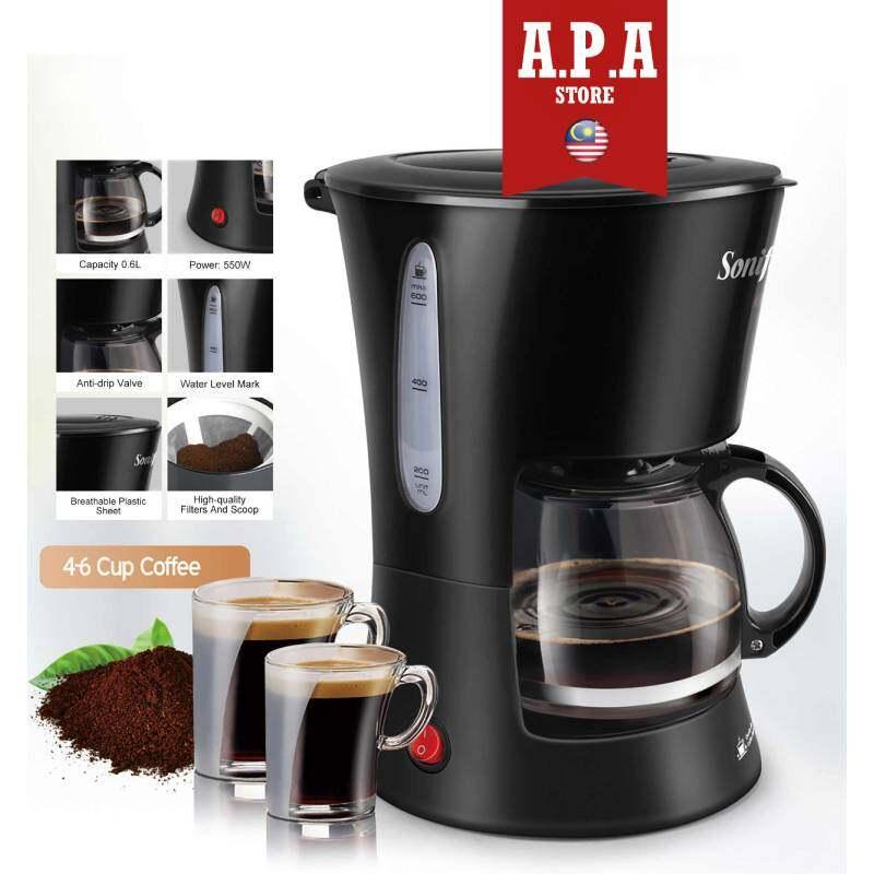 APA Coffee Maker 0.6L SONIFER (4-6 cup coffee) Keep Warm Function