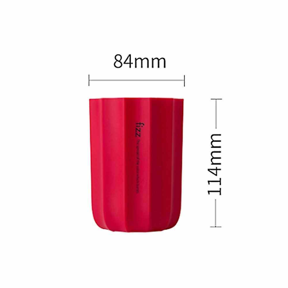 Xiaomi Youpin Fizz Pen and Pencil Holders Stationery Organizer for Desk Matte Office Desk Organizers Long-Lasting Silicone Cups (Red)