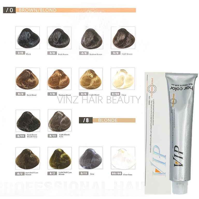 VIP Hair Dye Color Cream 100ml (Color Only)