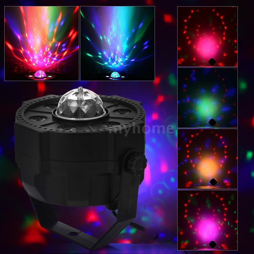 Lighting - MINI LED Par Lights RGB Spotlight DJ Party Lamp BT Speaker 9 LEDs WIRELESS Remote Control U Disk - Home & Living
