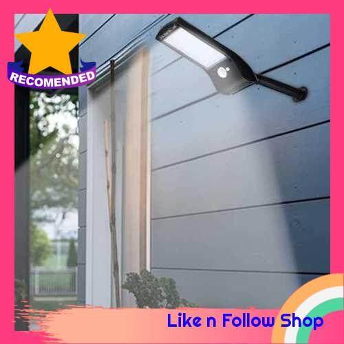 4PCS 36 LEDs Solar Powered Wall Light PIR Motion Sensor Lamp with Mounting Pole (4)