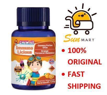 Chewies Immunolicious Orange Flavoured Gummies 60s (120g)