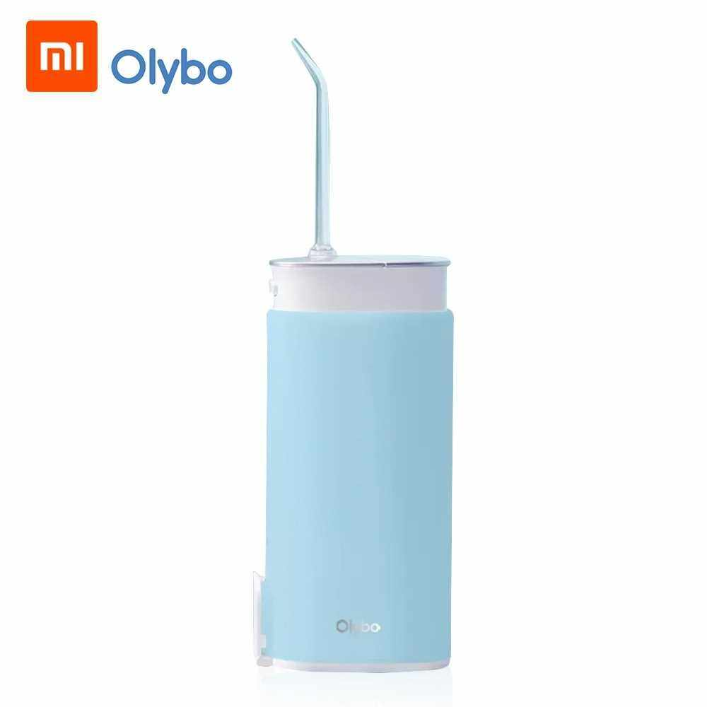 Xiaomi Youpin Olypo Telescopic Portable Cordless Water Flosser Teeth Cleaner Water Floss Electric Household 360 Degree Rotating Nozzle USB Rechargeable Water Flossing Device for Cleaning Teeth Smart 110-240V (Blue)