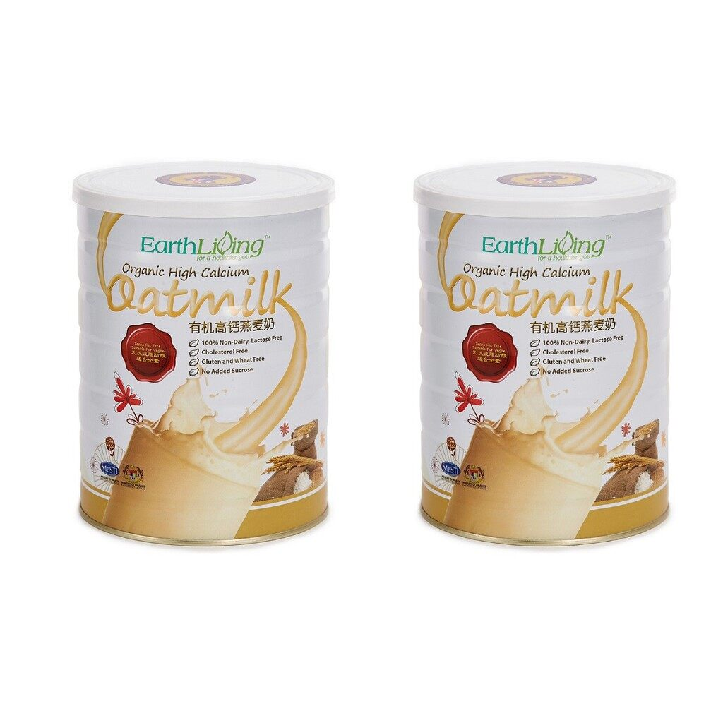 Twin Pack EARTH LIVING Organic High Calcium Oatmilk 2 x 850g