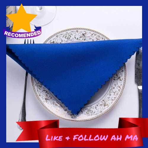 Best Selling Napkin jacquard tablecloth square hotel western restaurant wedding European napkin placemat bar wipe cup cloth (Royal Blue)