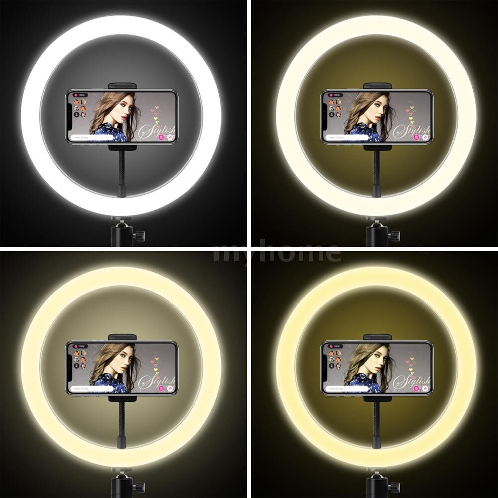 Lighting - USB Charging LEDs Fill Light Lamp with Phone Clip Tripod Stand 3 Lighting Modes & 10 Levels - 26CM LIGHT DIAMETER / 20CM LIGHT DIAMETER / 16CM LIGHT DIAMETER