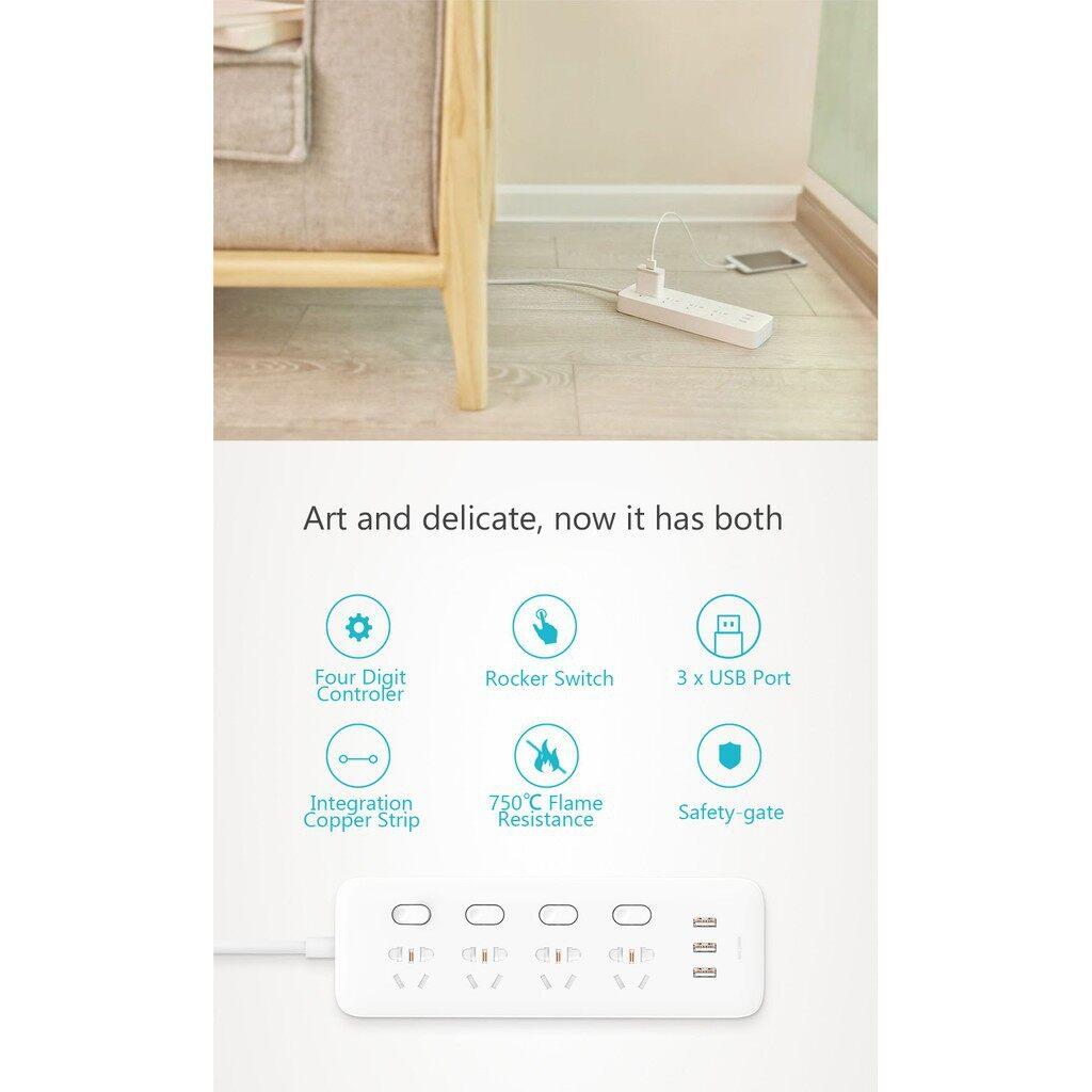 Chargers - ORIGINAL Xiaomi Mijia Digit Individual Control Power Strip Socket - Cables