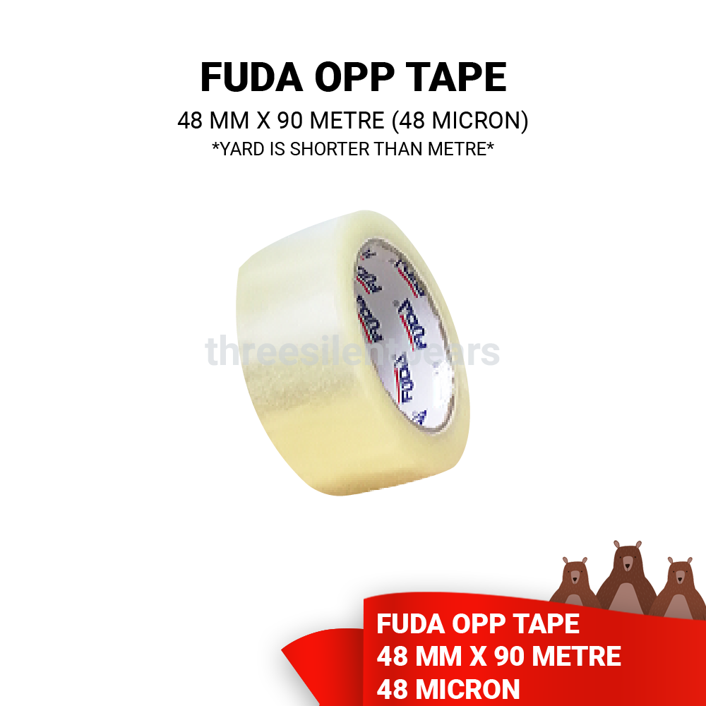 FUDA OPP TAPE 48MM X 90METRE (48 MICRON) - READY STOCK ~ FAST SHIPPING ~ LOCAL SELLER