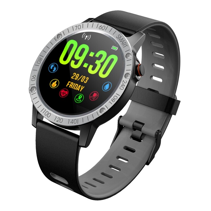 Smart Watch - F6S ECG+PPG Heart Rate Blood Pressure Oxygen Monitor Multi-sport Modes IP68 Waterproof Smart - BLACK / BLUE / GREEN