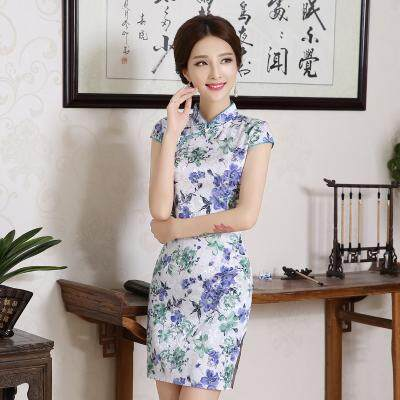 (Pre Order 14 DAYS)  JYS Fashion Women Cheongsam Collection 249-478C (Floral) S