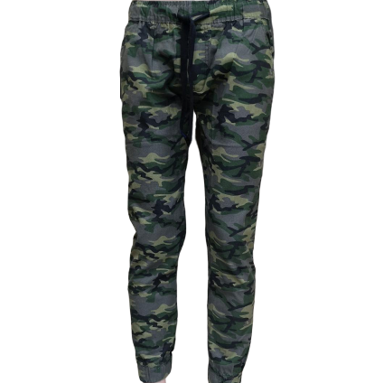 Ready Stock - Korean Style Men Jeans Jogger Pant Collection- M-1005 (Floral Green)