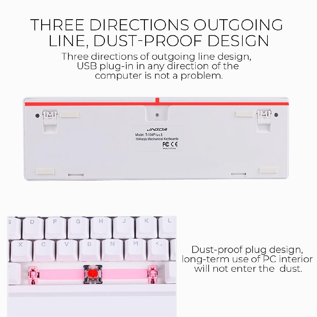Keyboards - ORIGINAL JAGOR 104 Key RGB Illuminated Mechanical Gaming Keyboard PBT Keyboard - RED SWITCH / CYAN SWITCH / BLACK SWITCH / TEA SWITCH