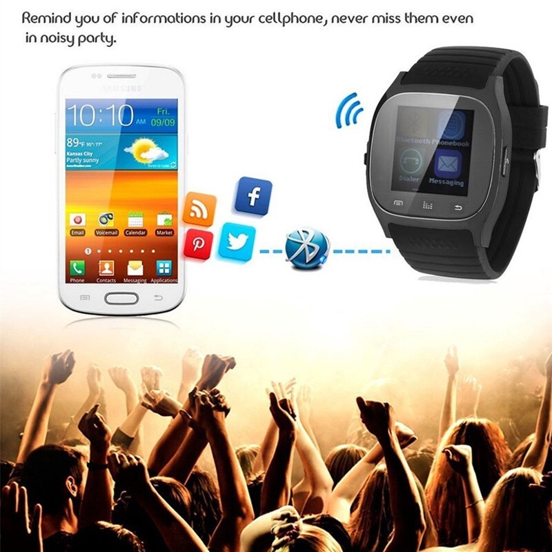 M26 BLUETOOTH Smart Watch Wristwatch with Dial SMS Remind Music Player Pedometer for Android - BLUE / WHITE / BLACK