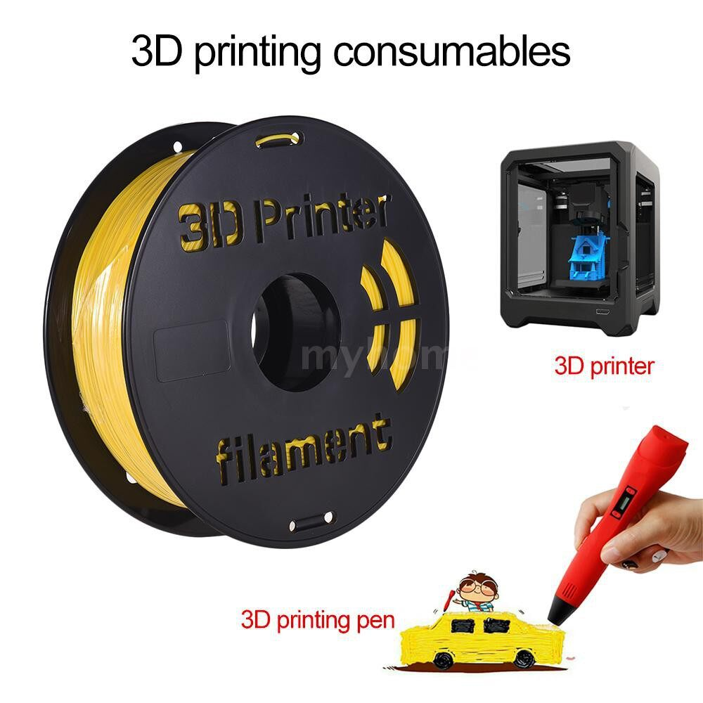 Printers & Projectors - 1KG/Spool PLA Filament 1.75mm Printing Material Supplies for 3D Printers Multi Colors - PINK / GREEN / TRANSPARENT / SILVER / RED / BLACK / YELLOW / WHITE