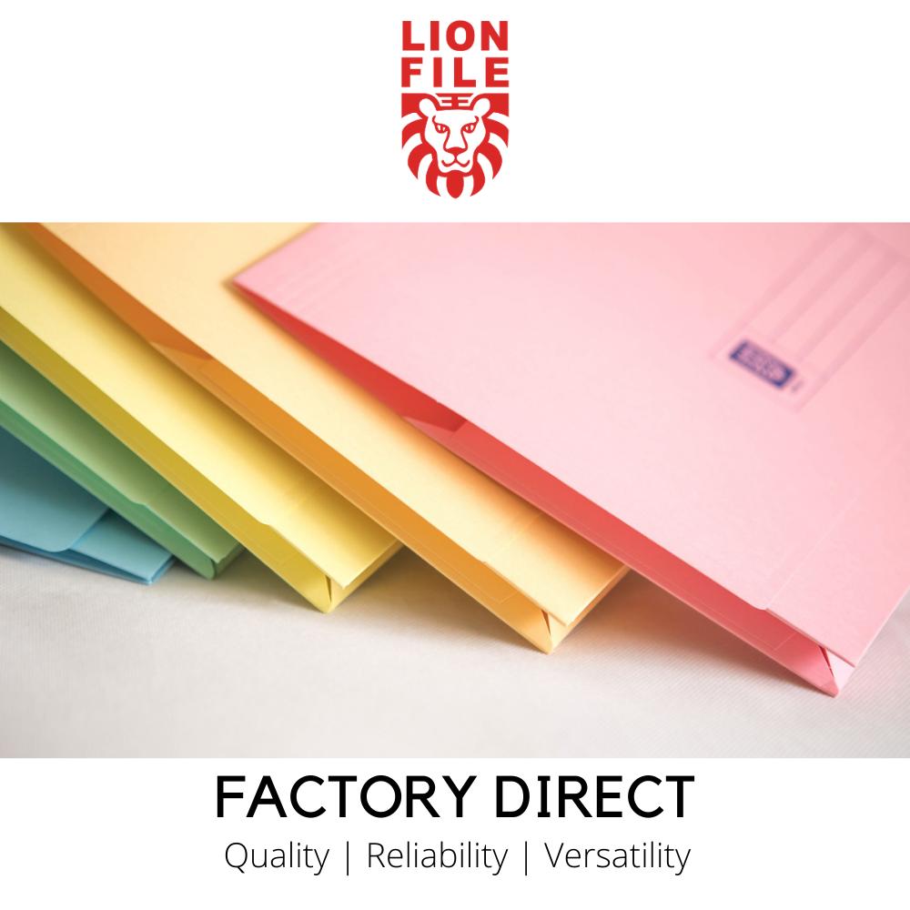 Lion File Japanese Colour Card Pocket File (144pcs/ctn)
