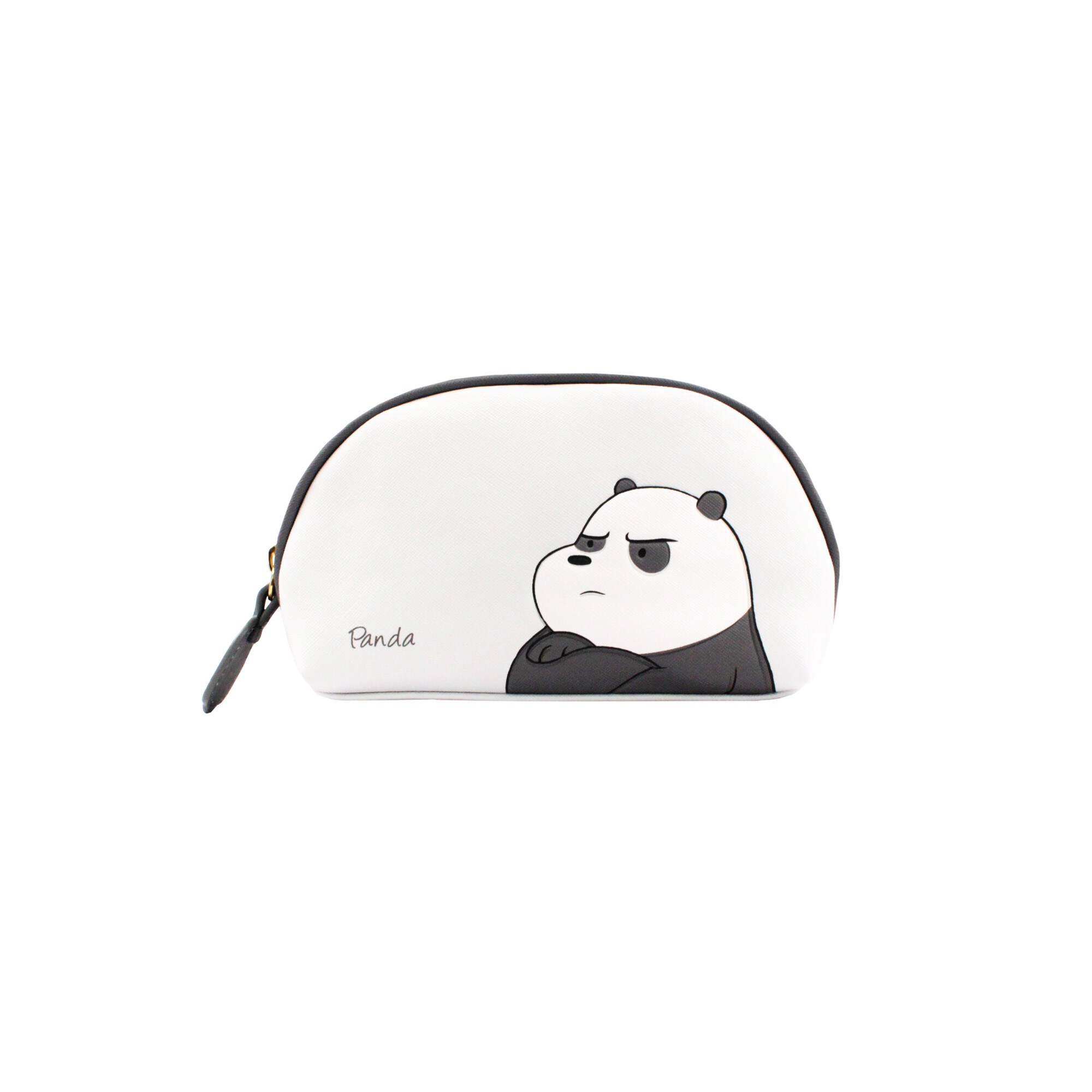 We Bare Bears Panda Multipurpose Pouch - White &  Grey Colour