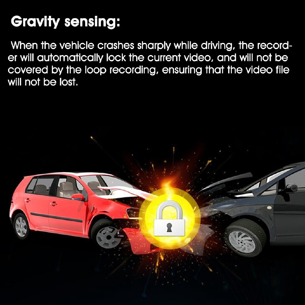 Car Lights - 7 1080P HD Dual Lens Car DVR Camera Center Console Recorder Video Dash Cam GPS - Replacement Parts