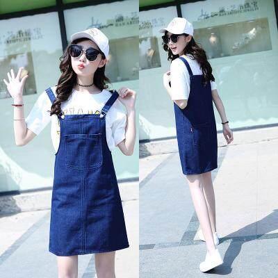 JYS Fashion Korean Style Women Jeans Strape Dress Collection 513-4062