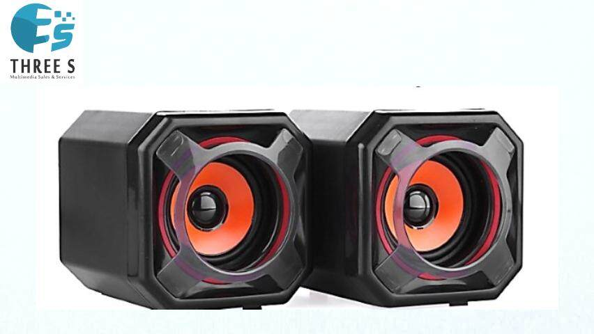READY STOCK- DMX USB2.0 MINI WOOFER STEREO SPEAKER