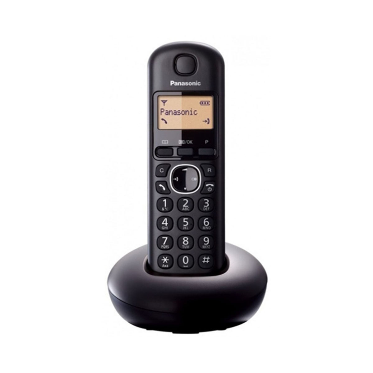 Panasonic Digital Cordless Phone KX-TGB210 Blacklit LCD Display with Caller ID, 10 Number Redial Memory, 9 Language Support, Compact Design, 16 Hours Talk Time, 280 Hours Standby Time