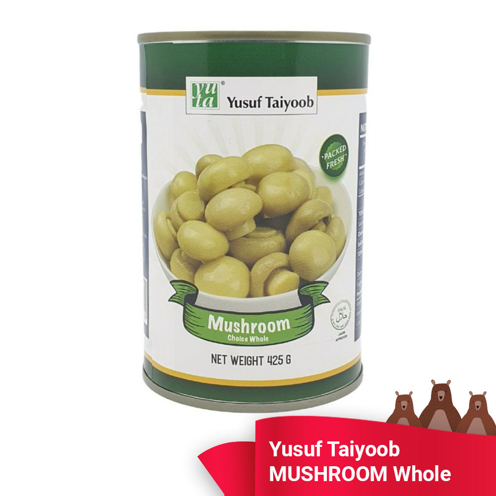 MUSHROOM CHOICE WHOLE - YUSUF TAIYOOB - CENDAWAN KUALITI TERPILIH (PACKED FRESH/DIPEK SEGAR) READY STOCK