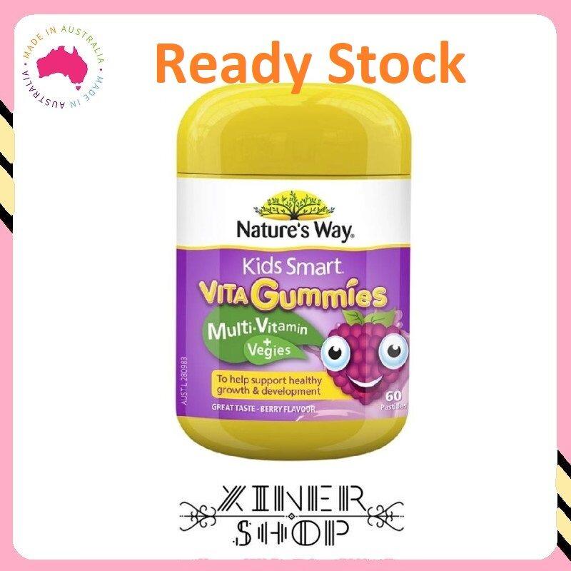 [Ready Stock EXP: 03/2022] Nature's Way Kids Smart Vita Gummies Multi Vitamin & Vegies ( 60 Gummies ) (Made In Australia)
