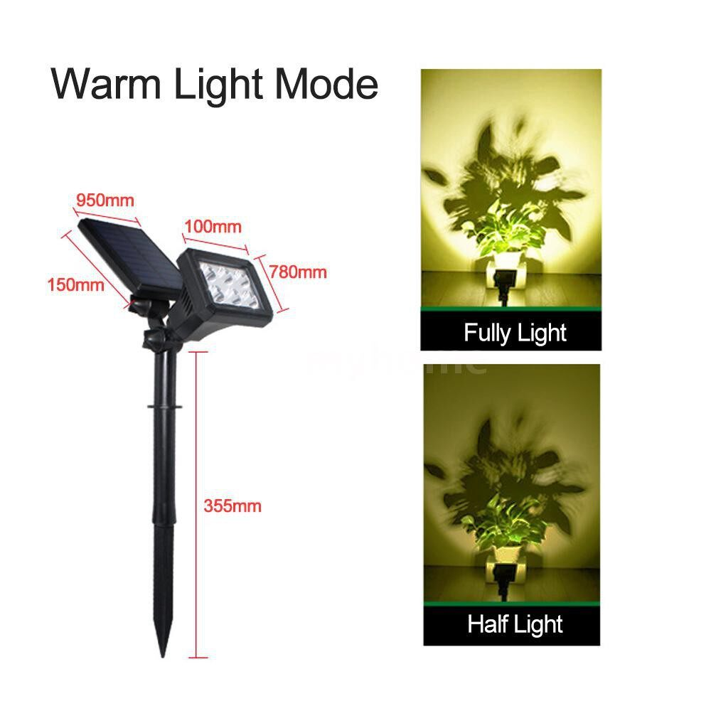 Outdoor Lighting - PORTABLE Energy Saving Two Installation Modes Colorful PORTABLEEnergy Saving Double Rotation Joint - 3 / 2 / 1