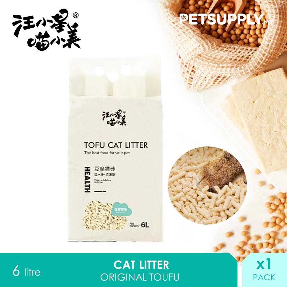 TOUFU Natural Cat Litter 6 litre [Soya Bean Pasir Kucing - Petsupply.my]