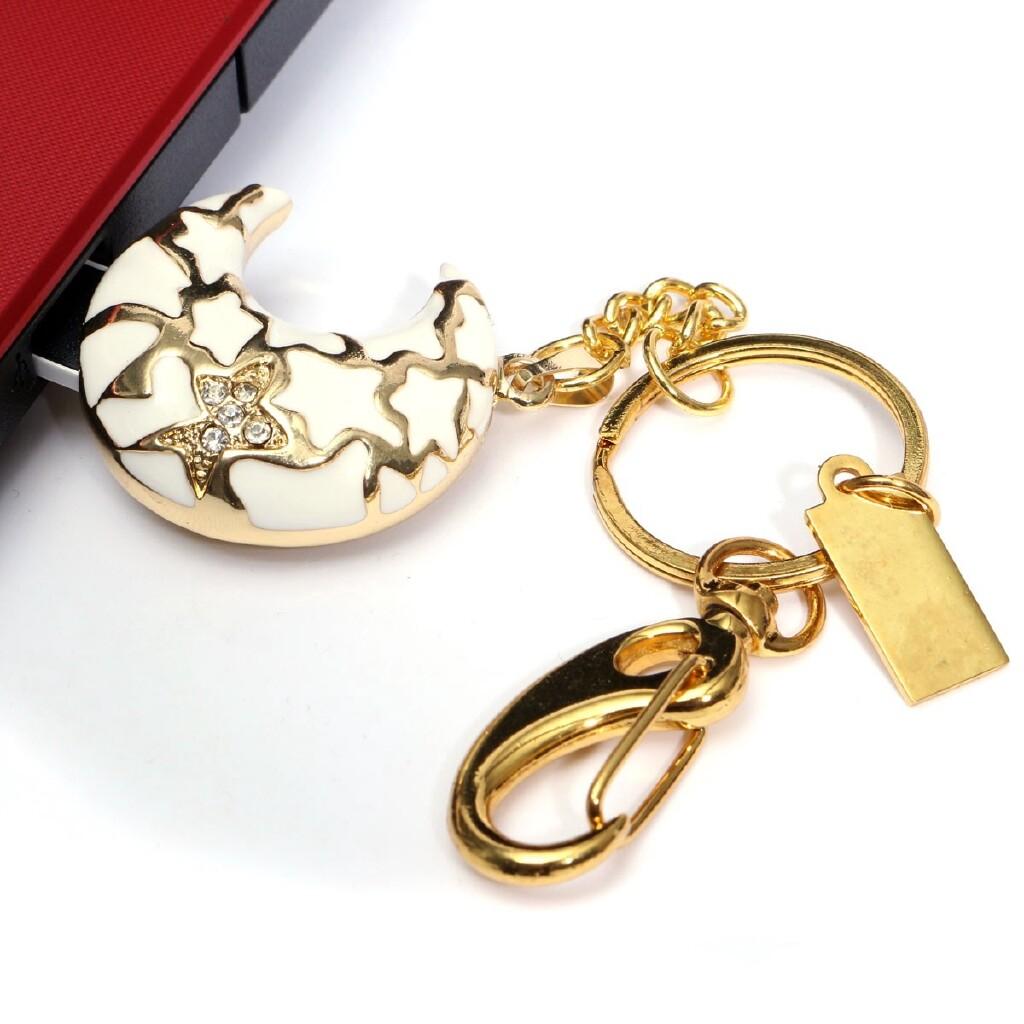 OTG USB - Moon Shape USB 2.0 Flash Stick Memory Drive Thumb Storage+Keychain Gift - 4G / 8G / 16G