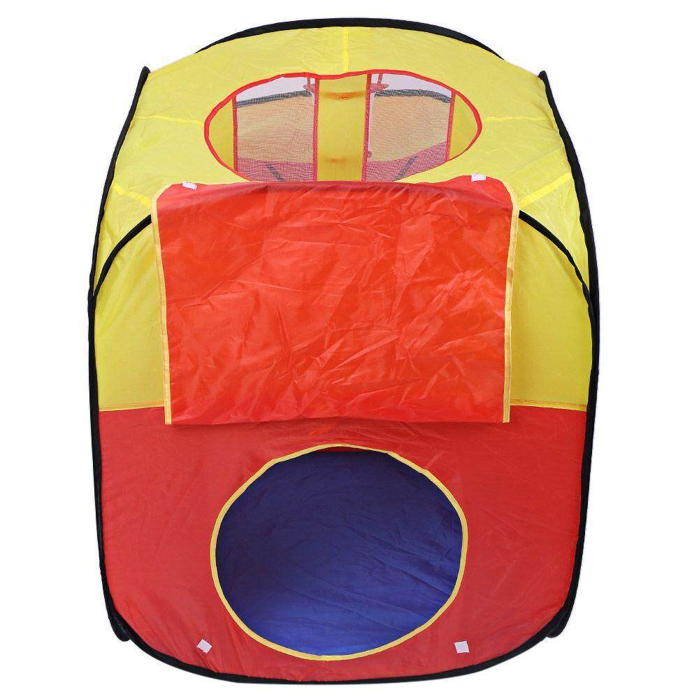 PORTABLE FOLDABLE OUTDOOR INDOOR TENT CHILDREN PLAYHOUSE (YELLOW AND RED) toys for girls