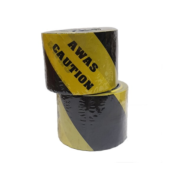 "3"" x 50M Opp Printed Tape Awas / Caution for painter"