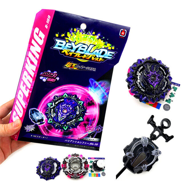 [Ready Stock] NEW beyblade takara tomy variant lucifer mobius 2D EVIL BARRIER b-169 beyblade burst superking sparking SHIELD BLADE GIMMICK with launcher toys for kids