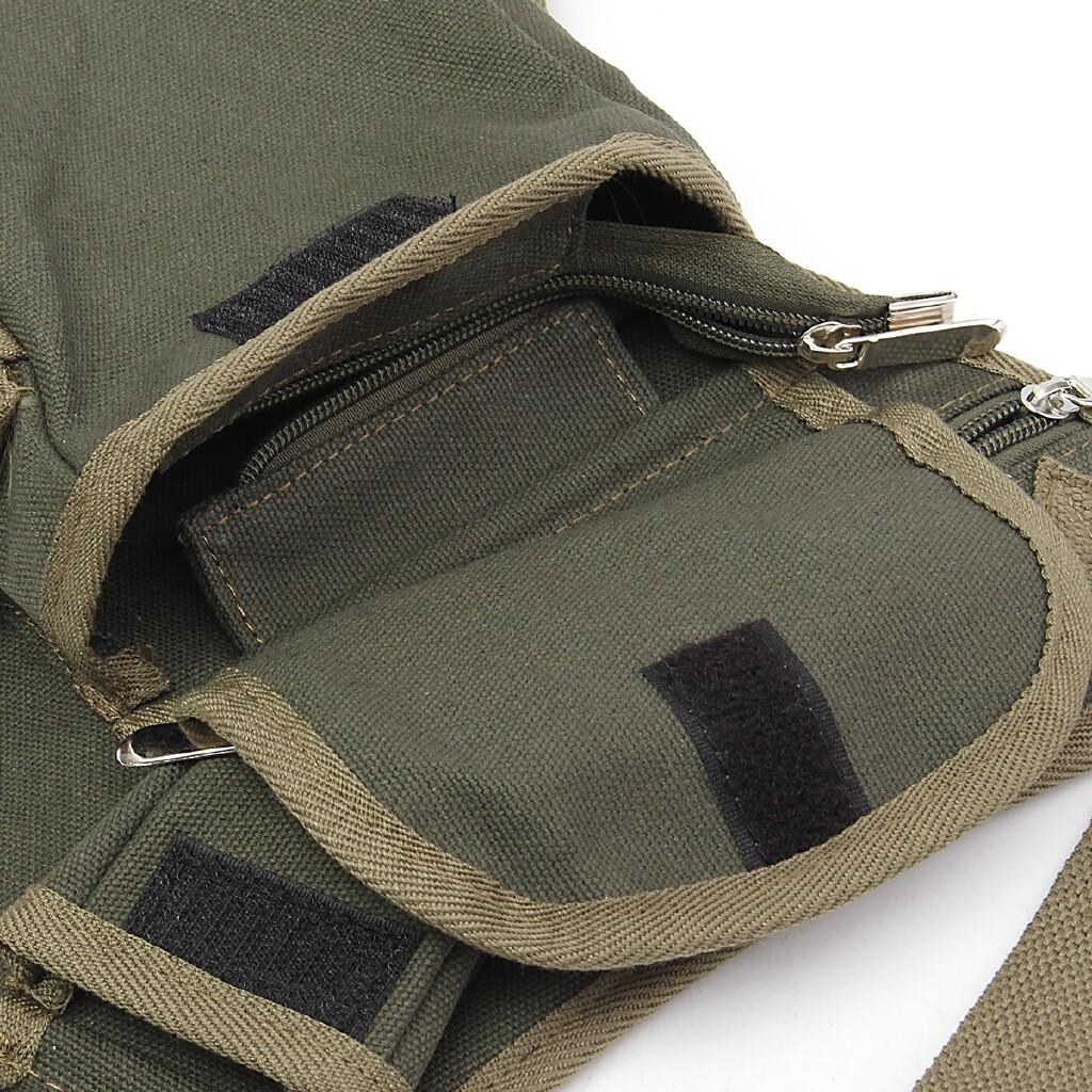 Moto Accessories - Motorcycle Man Leg Bag Recreational Sport Canvas Backpack Motorbike - COFFEE / ARMY GREEN / KHAKI / BLACK