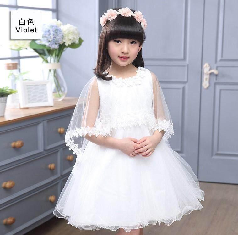 (Pre Order14 Days JYS  Fashion Korean Style Kids Girl Dress Collection -5189915col518-9915--White -110