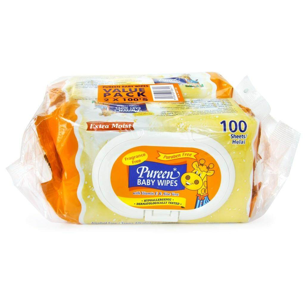 Pureen  Baby Wipes Fragrance Free (80sx2) / (100's x 2)